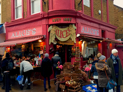 Loja de antiguidades - Alice's em Londres