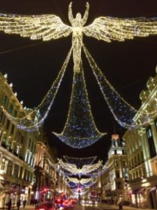 Iluminação em Londres na Rua de Regent Street