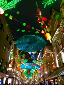 Decoração natalícia em Londres