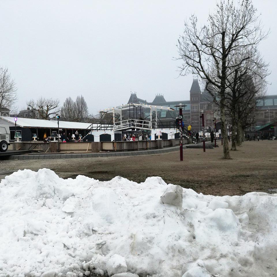 Neve em Amesterdão