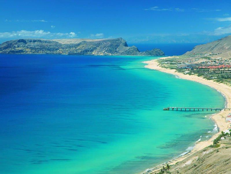 Praia na Ilha de Porto Santo - Madeira